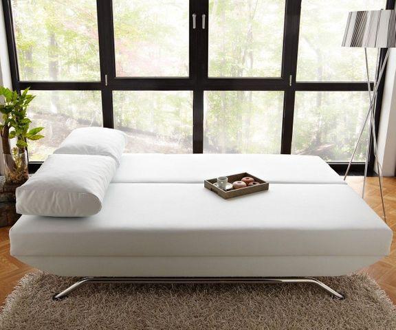 Slaapbank Cady 200x90 cm wit bankstel met slaapfunctie 2