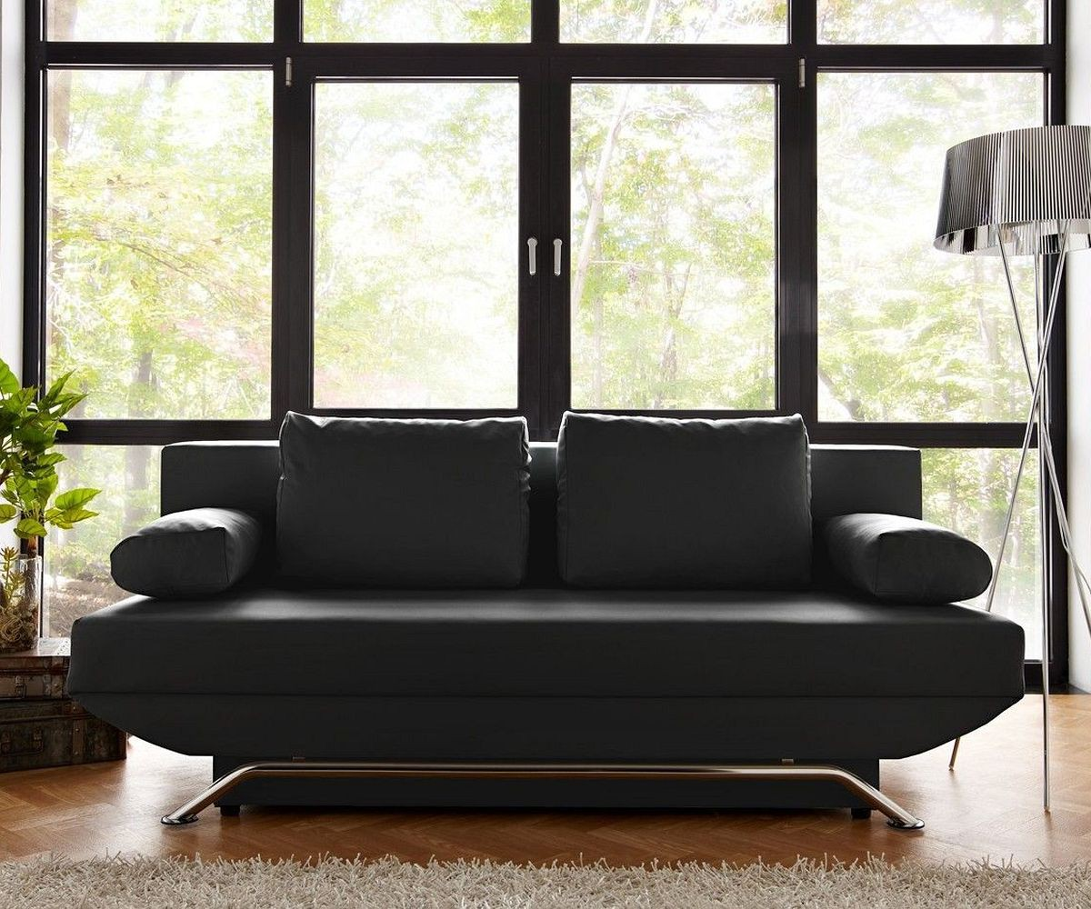 schlafsofa cady 200x90 cm schwarz mit schlaffunktion m bel sofas schlafsofas. Black Bedroom Furniture Sets. Home Design Ideas
