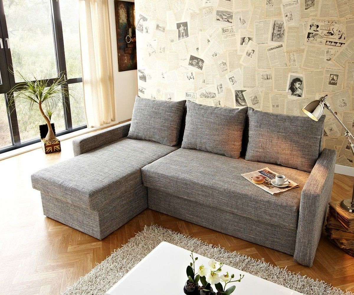 ecksofa avondi 225x145 hellgrau mit bettkasten variabel m bel sofas ecksofas. Black Bedroom Furniture Sets. Home Design Ideas