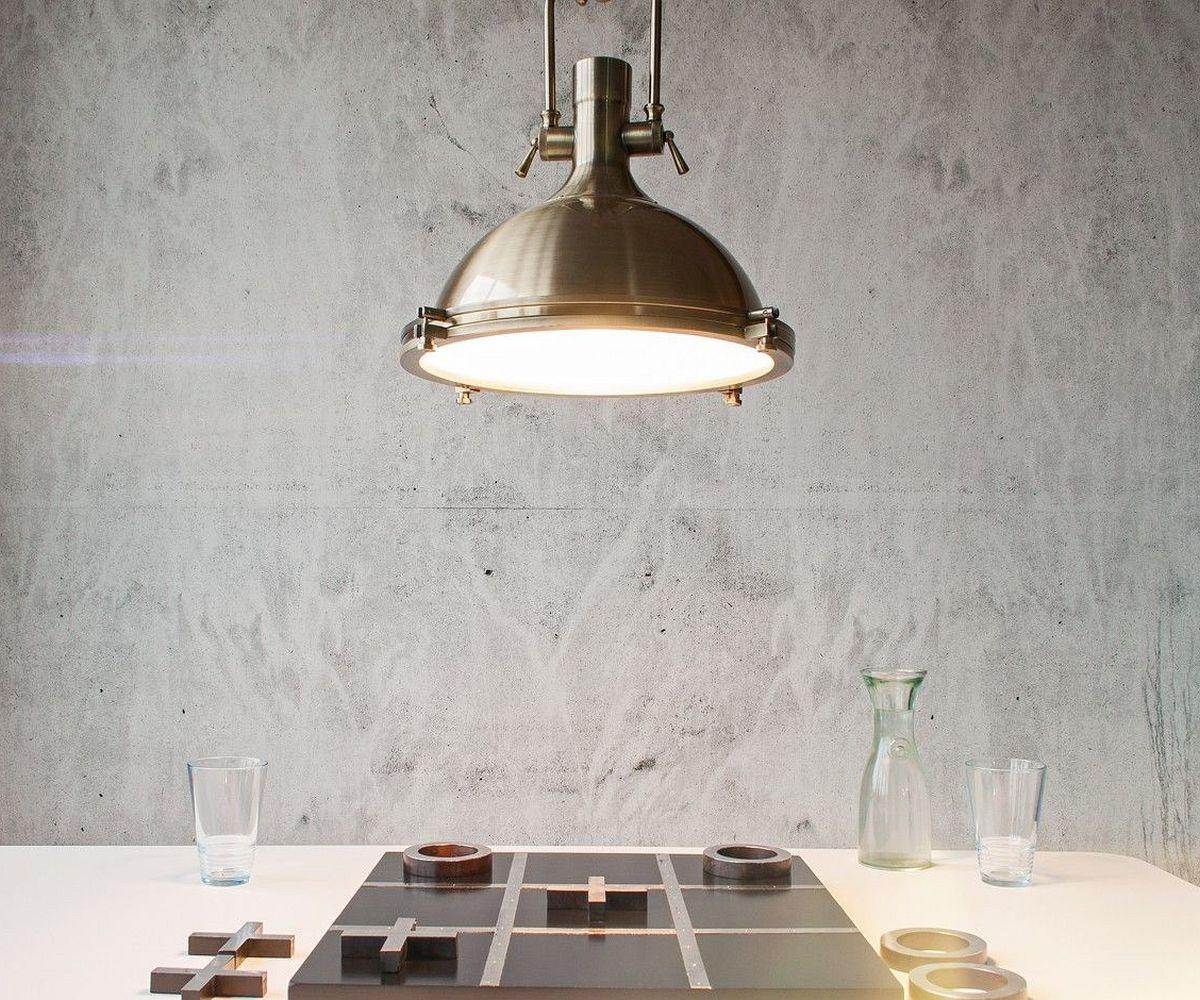 h ngeleuchte garrick 40x52cm bronzefarben metall mit glas. Black Bedroom Furniture Sets. Home Design Ideas