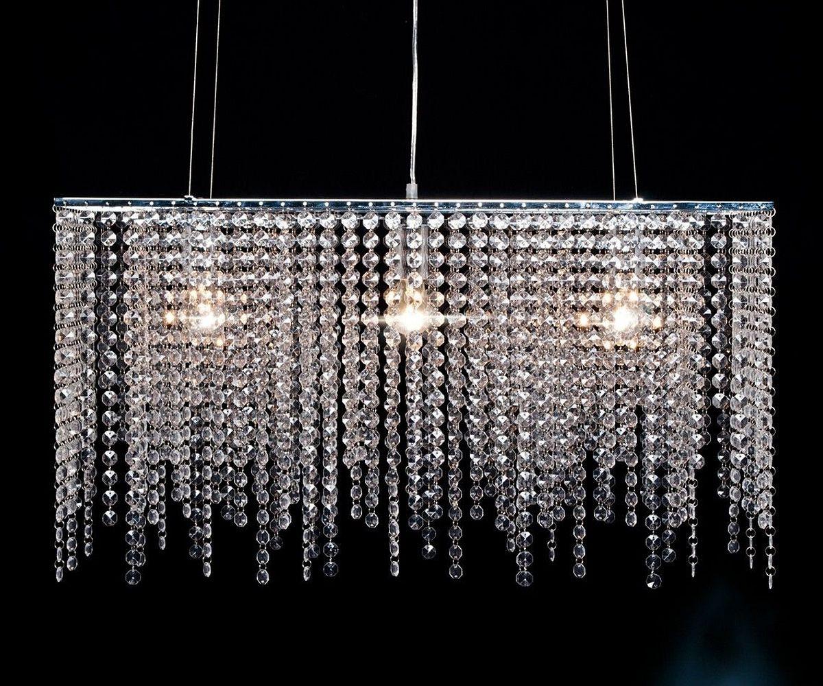 h ngelampe mit kristallen glas pendelleuchte modern. Black Bedroom Furniture Sets. Home Design Ideas