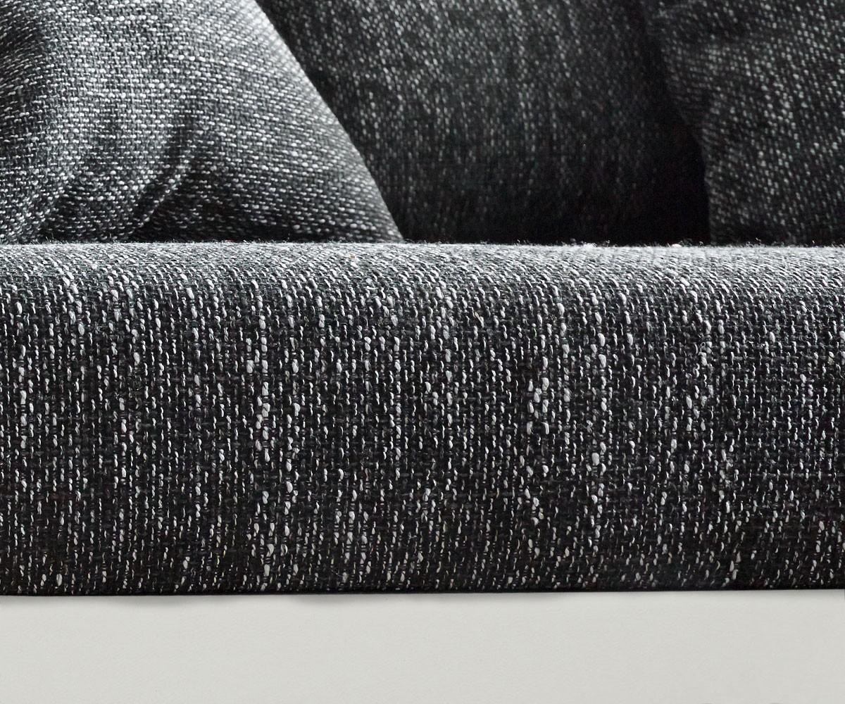 Couch Clovis Weiss Schwarz Mit Hocker Wohnlandschaft Modulsofa