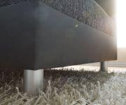 Couch Clovis Schwarz mit Hocker Wohnlandschaft Modulsofa [8016]