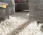 Couch Clovis Hellgrau Strukturstoff mit Hocker Wohnlandschaft Modulsofa [8018]