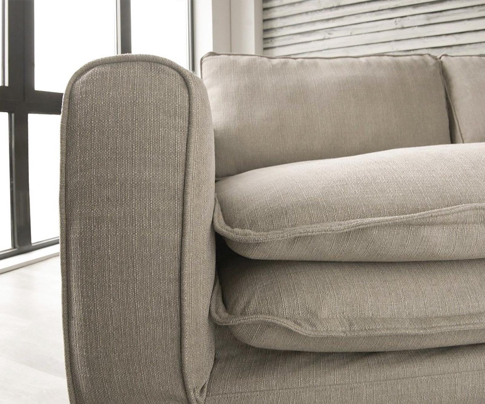 Big Sofa Noelia Elfenbeinfarben 240x145 cm mit Kissen ...