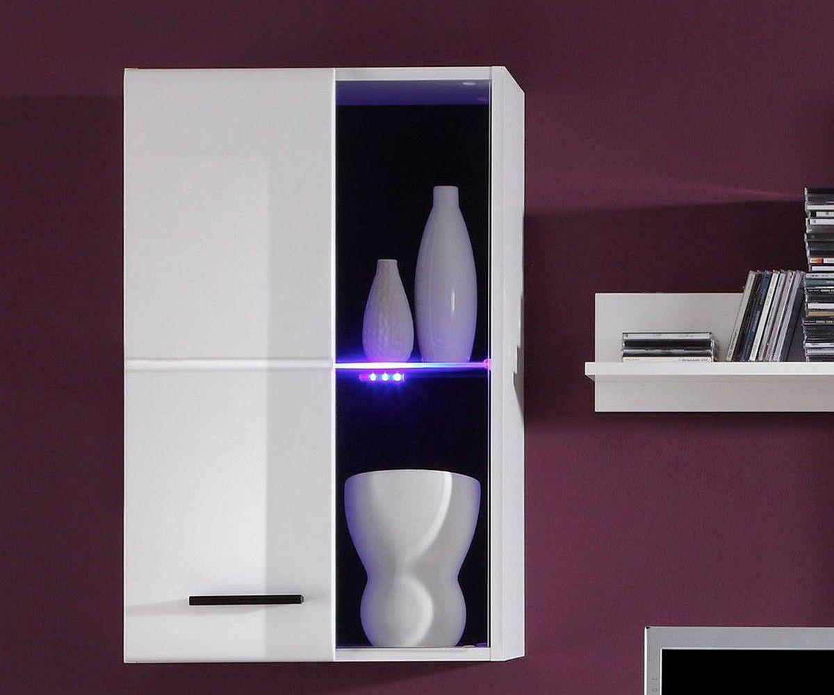 wohnwand freya 200 cm weiss hochglanz led beleuchtung. Black Bedroom Furniture Sets. Home Design Ideas