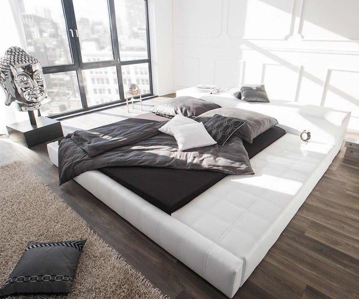 polsterbett edina 180x200 cm weiss mit ablagefl che m bel betten polsterbetten. Black Bedroom Furniture Sets. Home Design Ideas