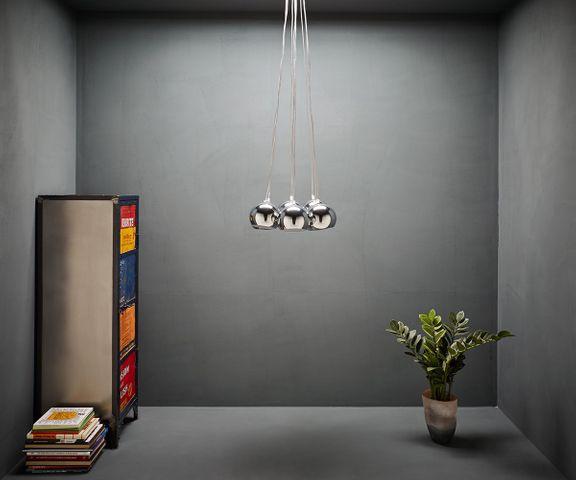 Hanglamp Pentola 55 cm chroom zilver 8 schermen 2
