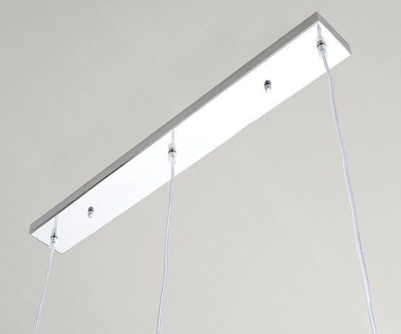 Plafondlamp Pentola 75 cm chroom zilverkleurig metaal 3
