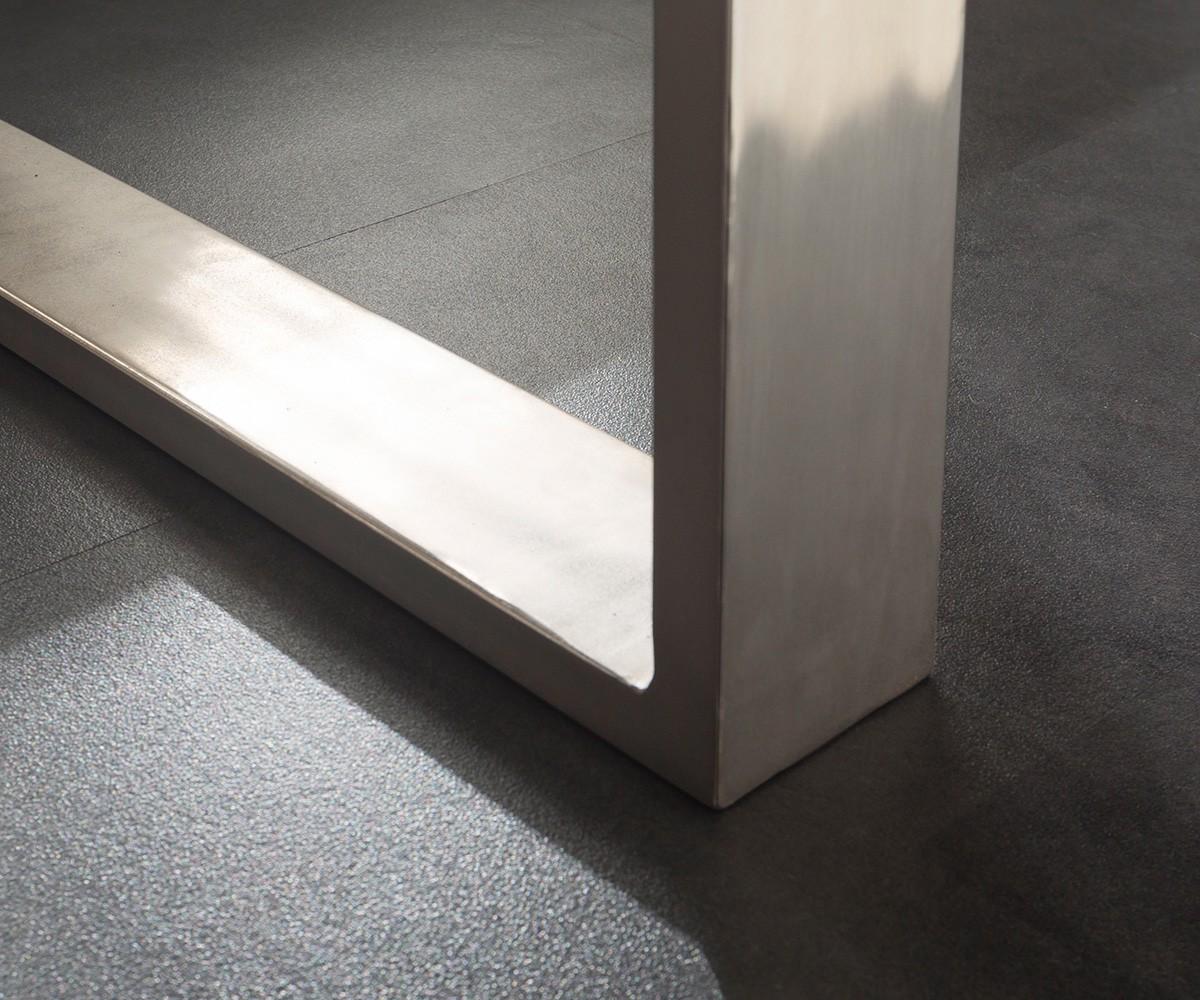 massivholztisch live edge akazie gebleicht 140x90 platte 5cm gestell schmal baum ebay. Black Bedroom Furniture Sets. Home Design Ideas