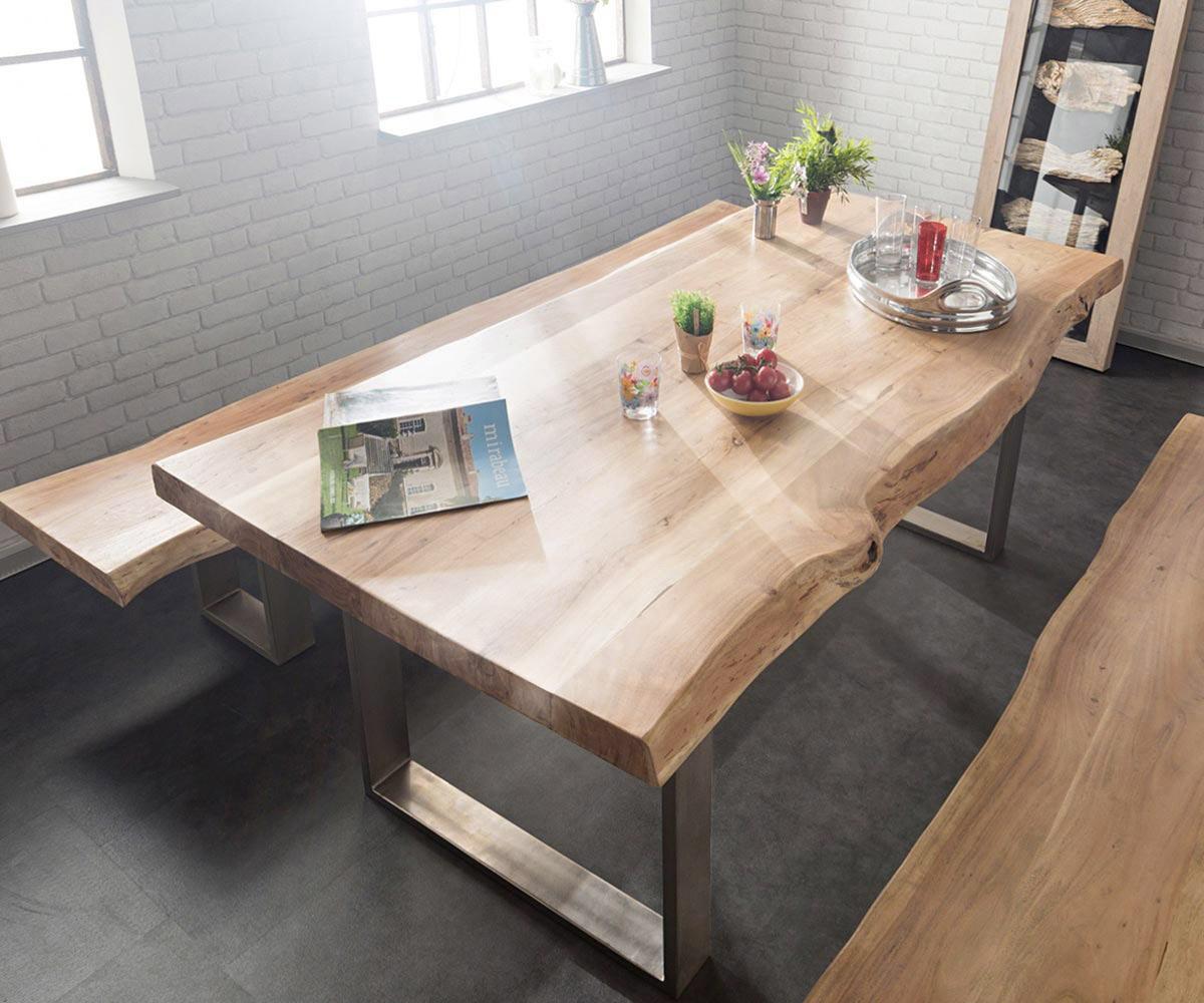 Holztisch Modern massivholz tisch baumstamm interieur modern bilder design