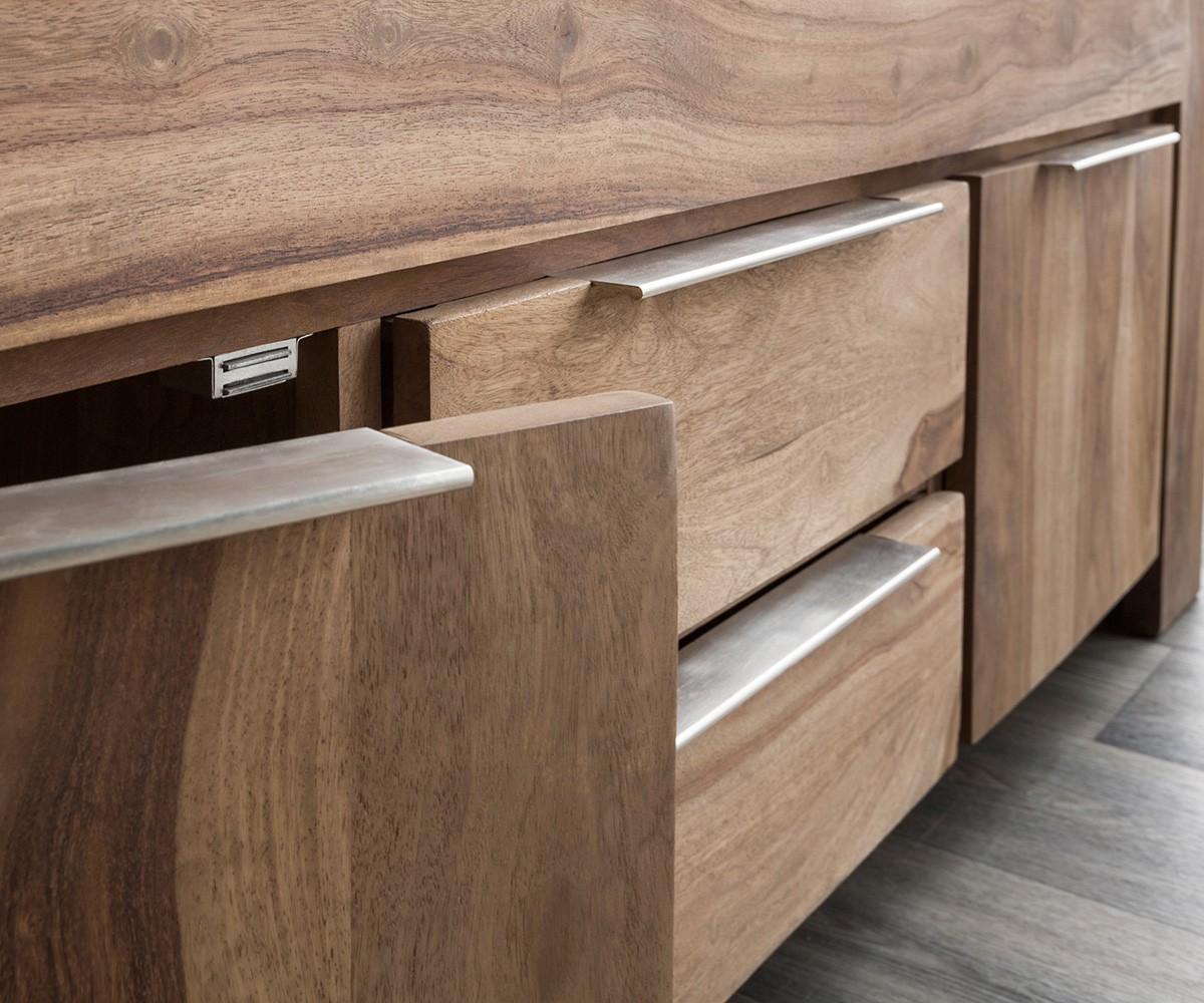fernsehtisch blokk sheesham natur 160 cm 2 t ren 2 sch be massivholz lowboard. Black Bedroom Furniture Sets. Home Design Ideas