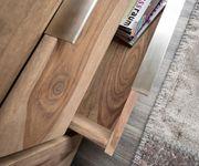 Fernsehtisch Blokk Sheesham Natur 200 cm 2 Türen 2 Schübe Massivholz Lowboard [8607]