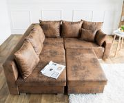 Couch Lavello Braun 210x210 Antik Optik Ottomane Links Hocker Ecksofa [8722]