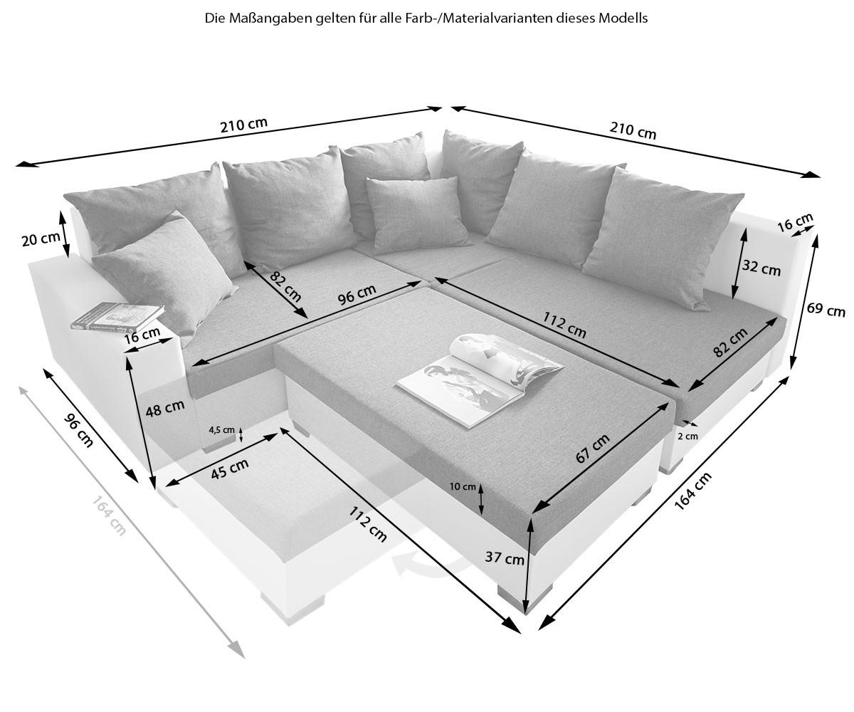 couch lavello braun 210x210 ottomane rechts hocker antik optik ecksofa ebay. Black Bedroom Furniture Sets. Home Design Ideas