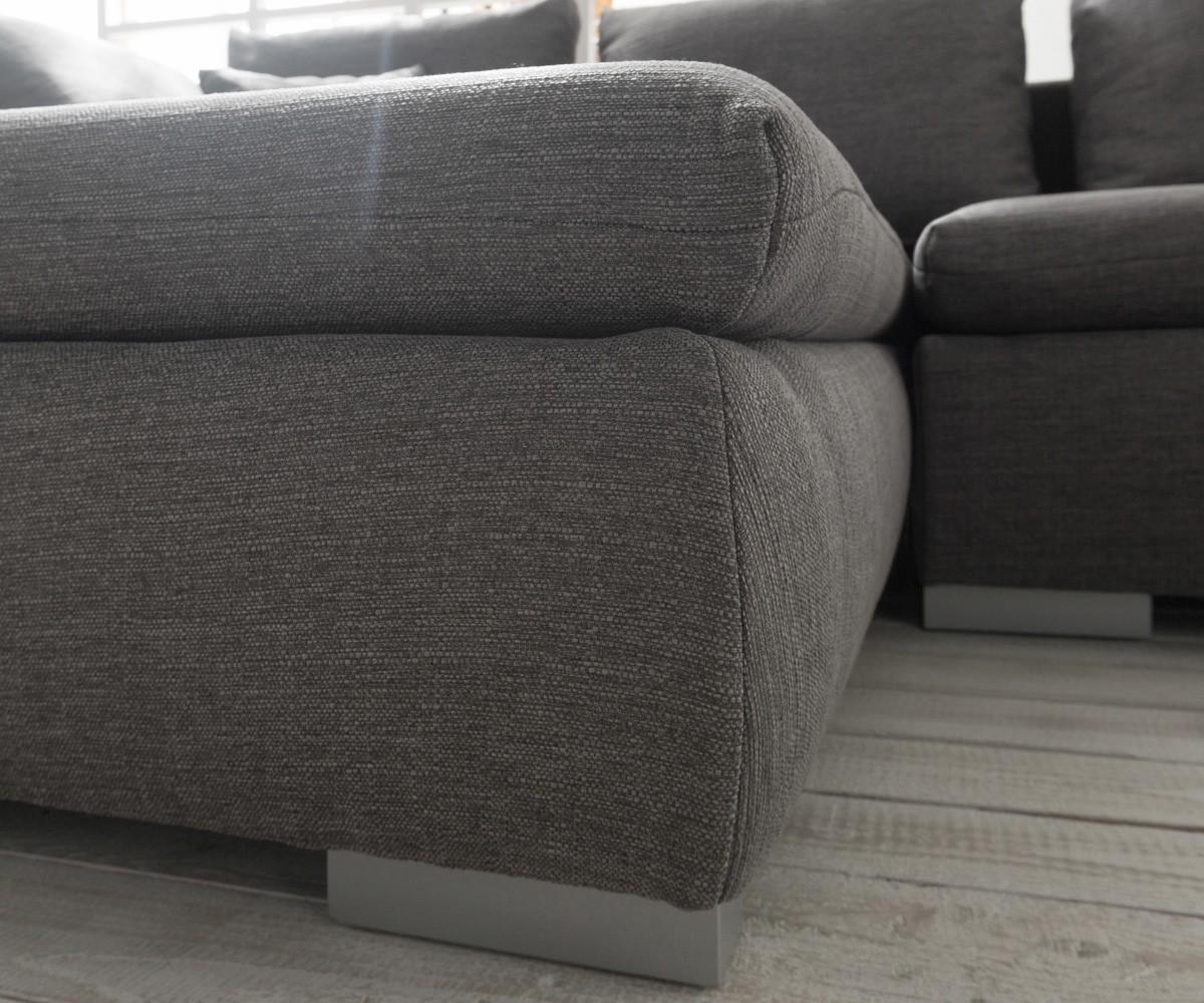 ecksofa maxie 330x178 cm grau mit schlaffunktion m bel. Black Bedroom Furniture Sets. Home Design Ideas