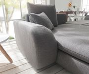 Couch Maxie Grau 330x178 cm Schlaffunktion Ottomane Links Ecksofa [8784]