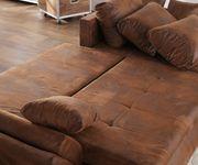 Couch Loana Braun 275x185 cm Ecksofa Schlaffunktion Ottomane variabel [9506]