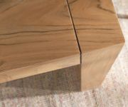Esszimmertisch Indra Akazie Natur 140x90 cm Massivholz Kufengestell Esstisch [9659]