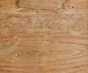 Massivholztisch Live-Edge Akazie Natur 140x90 Platte 5cm Gestell schmal Baumtisch [9695]