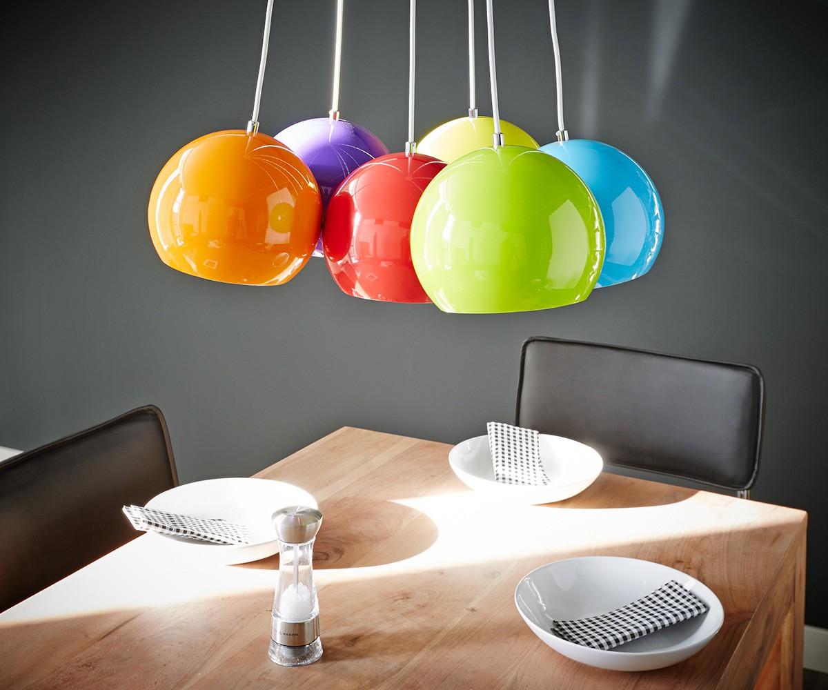 Hanglampen Pentola 45 cm gekleurd 6 schermen rond