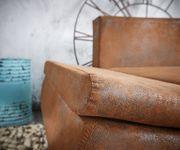 Couch Abilene Braun 260x175 mit Bettfunktion Ottomane variabel Ecksofa [9737]