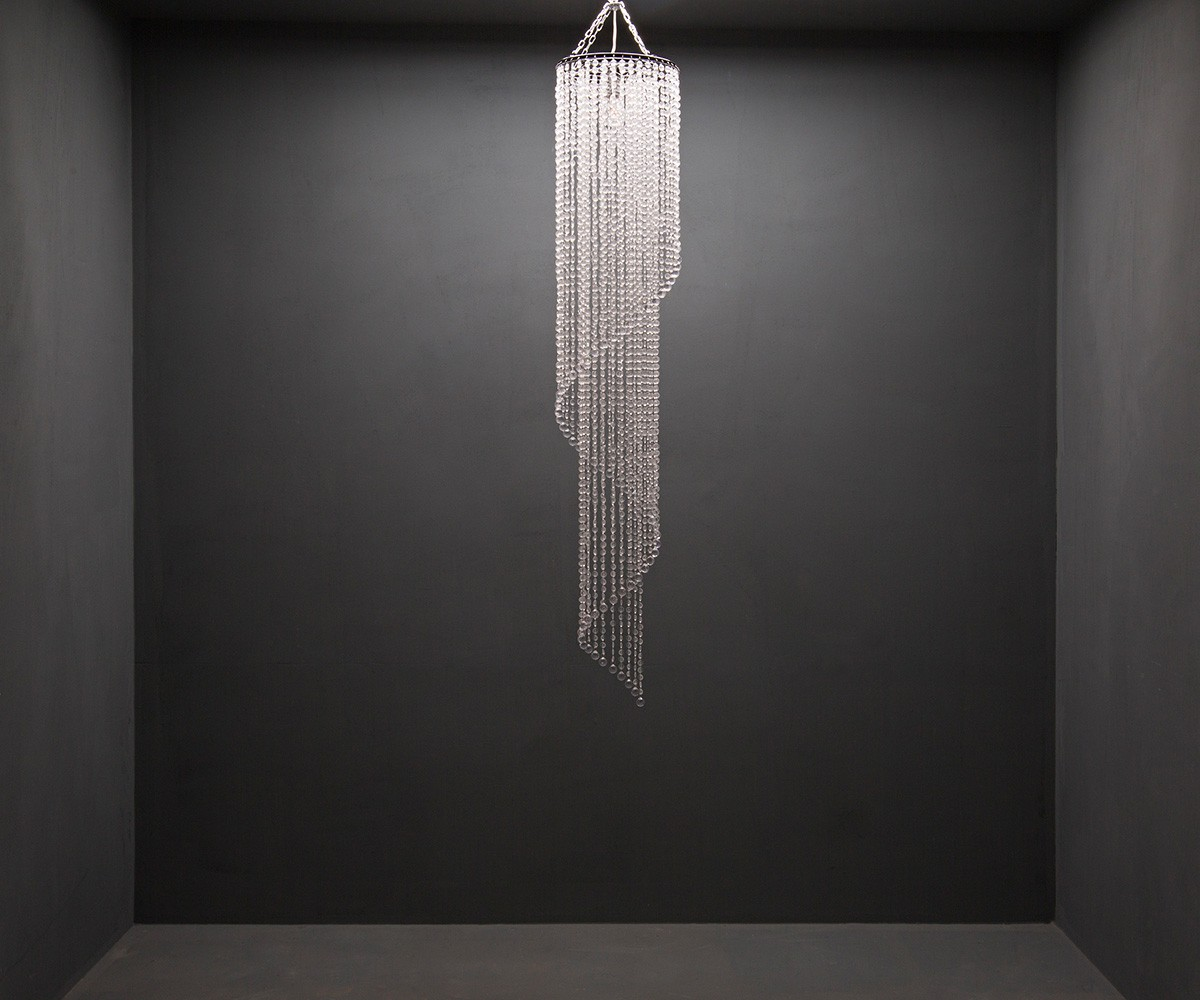 Hängeleuchte Big-Strass 30x175 cm Transparent