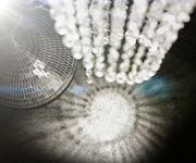 Hängelampe Big-Strass Transparent 30x175 cm Acrylglas Hängeleuchte [9788]