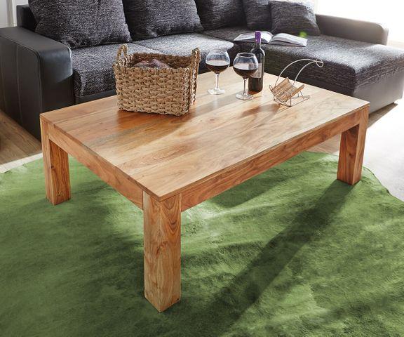 Salontafel Indra acacia natuur 120x70 cm massief hout  2