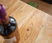 Wohnzimmertisch Indra Akazie Natur 120x70 cm Massivholz Couchtisch [9822]
