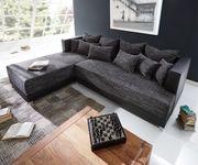 Couch Megara Schwarz 276x204 Schlaffunktion Ottomane Links Ecksofa [9936]