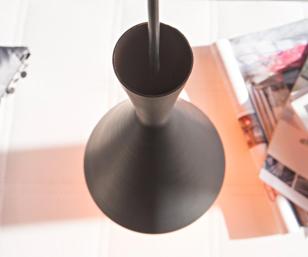 pendelleuchte delila 30x44 cm schwarz matt aluminium m bel leuchten h ngeleuchten. Black Bedroom Furniture Sets. Home Design Ideas