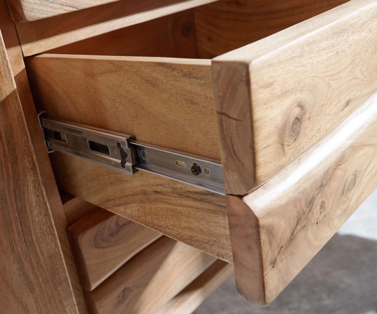 sideboard live edge 147 cm akazie natur 3 sch be 2 t ren m bel kommoden schr nke sideboards. Black Bedroom Furniture Sets. Home Design Ideas
