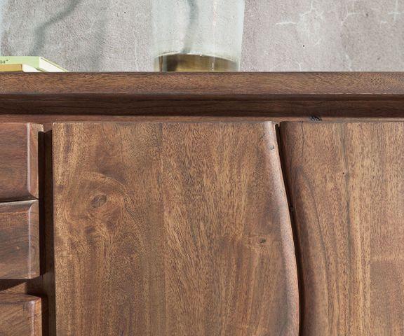 Dressoir Live-Edge 147 cm acacia bruin 3 laden 2 deuren 2