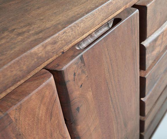 Dressoir Live-Edge 172 cm acacia bruin 3 laden 4 deuren 2
