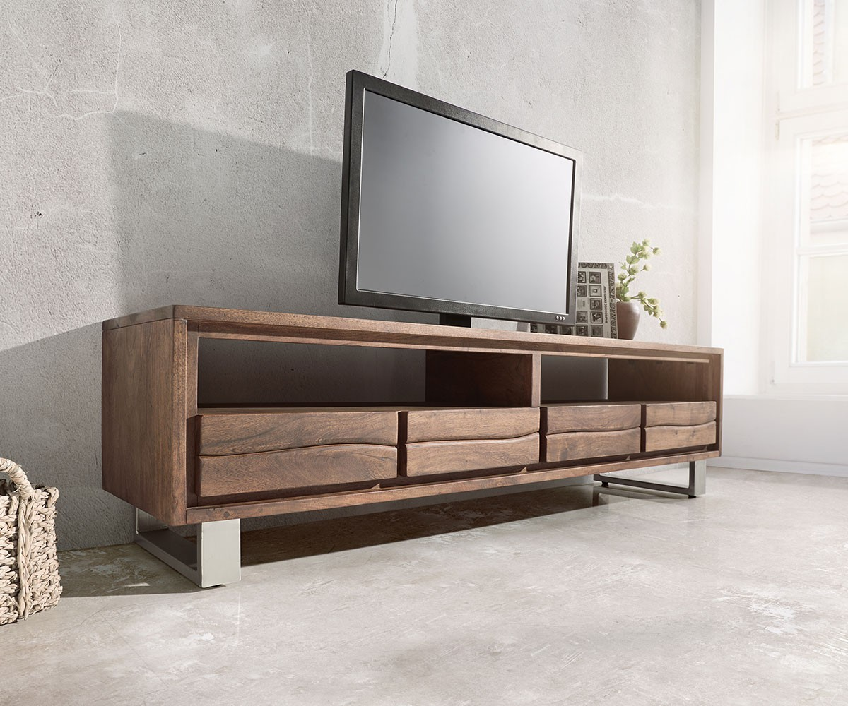 lowboard live edge 190 cm akazie braun 4 sch be m bel tische fernsehtische. Black Bedroom Furniture Sets. Home Design Ideas