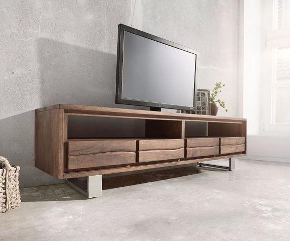 TV-meubel Live-Edge 190 cm acacia bruin 4 laden 2