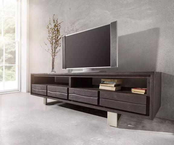 TV-meubel Live-Edge 190 cm acacia tabak 4 laden 2