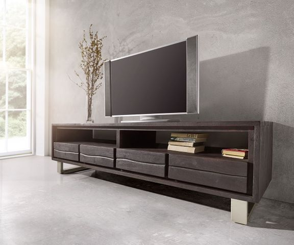 TV-meubel Live-Edge 190 cm acacia tabak 4 laden 1