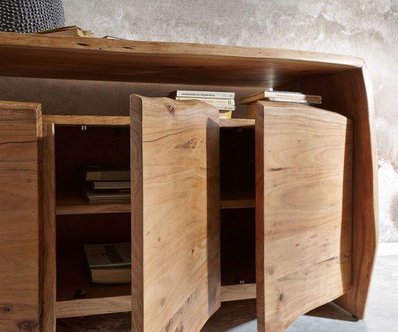 Dressoir Live-Edge acacia natuur 145 cm 3 deuren 3