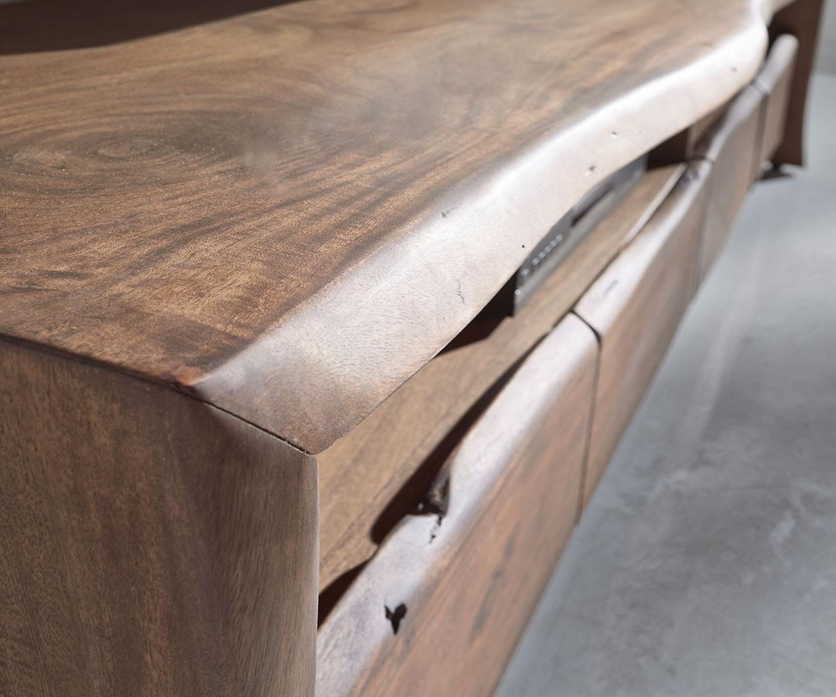 lowboard live edge 190 cm akazie braun 4 sch be 2 f cher m bel tische fernsehtische. Black Bedroom Furniture Sets. Home Design Ideas