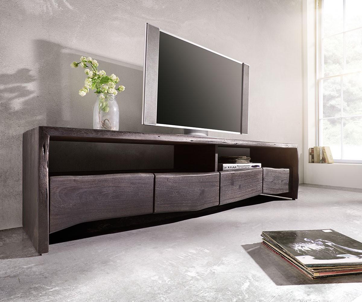 lowboard live edge 190 cm akazie tabak 4 sch be 2 f cher m bel tische fernsehtische. Black Bedroom Furniture Sets. Home Design Ideas