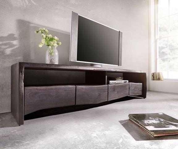 TV-meubel Live-Edge 190 cm acacia tabak 4 laden 2 vakken 1