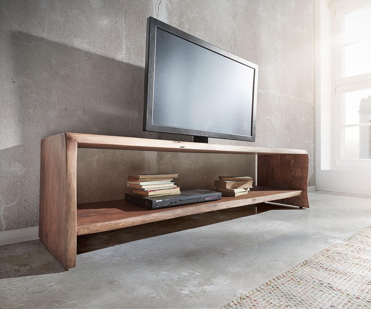 lowboard live edge 165 cm akazie braun 1 fach baumkante. Black Bedroom Furniture Sets. Home Design Ideas