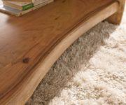 Wohnzimmertisch Live-Edge Akazie Natur 130x60 cm Baumkante Baumtisch [10118]