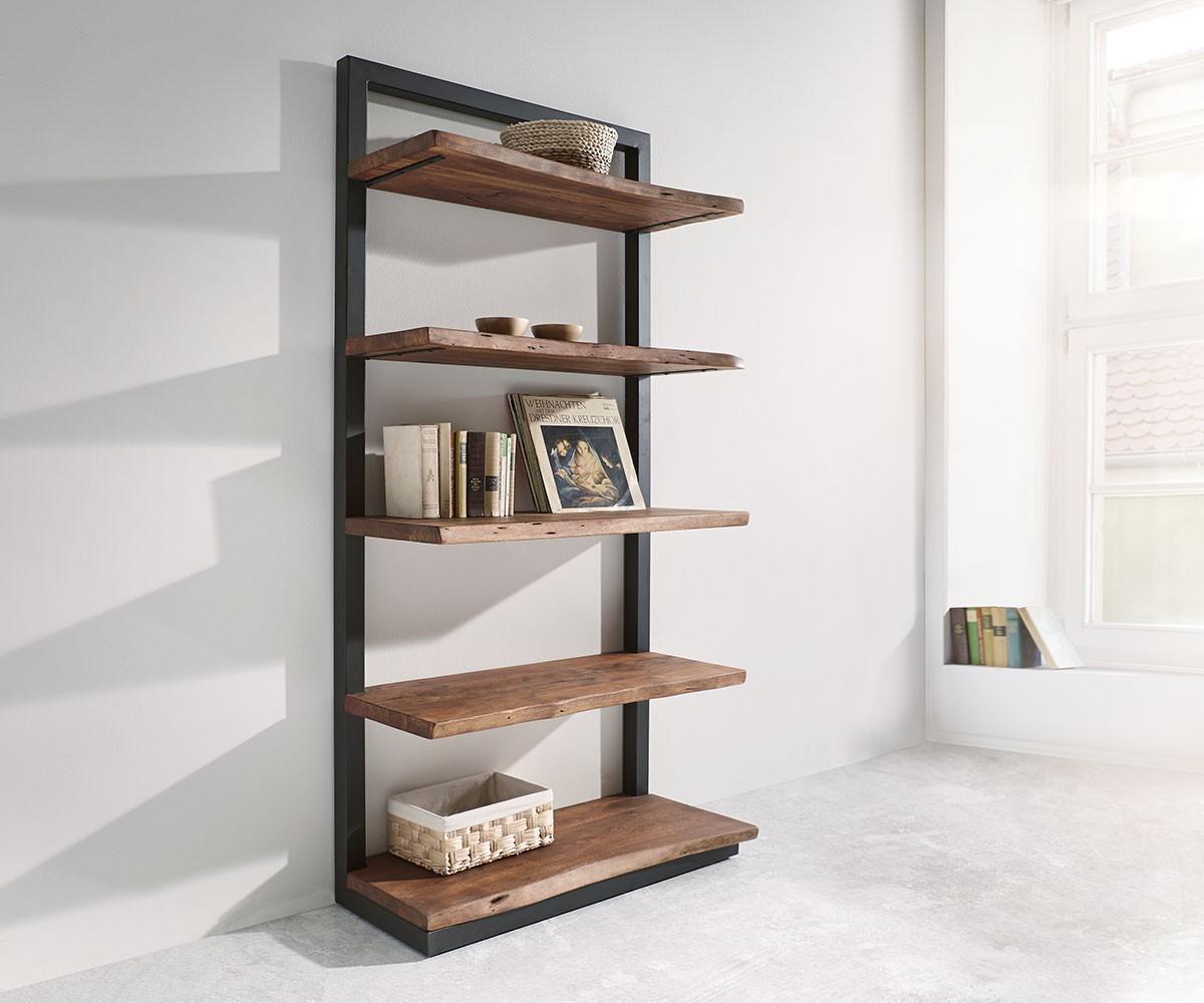 standregal live edge 92 cm akazie braun 5 b den m bel regale standregale. Black Bedroom Furniture Sets. Home Design Ideas