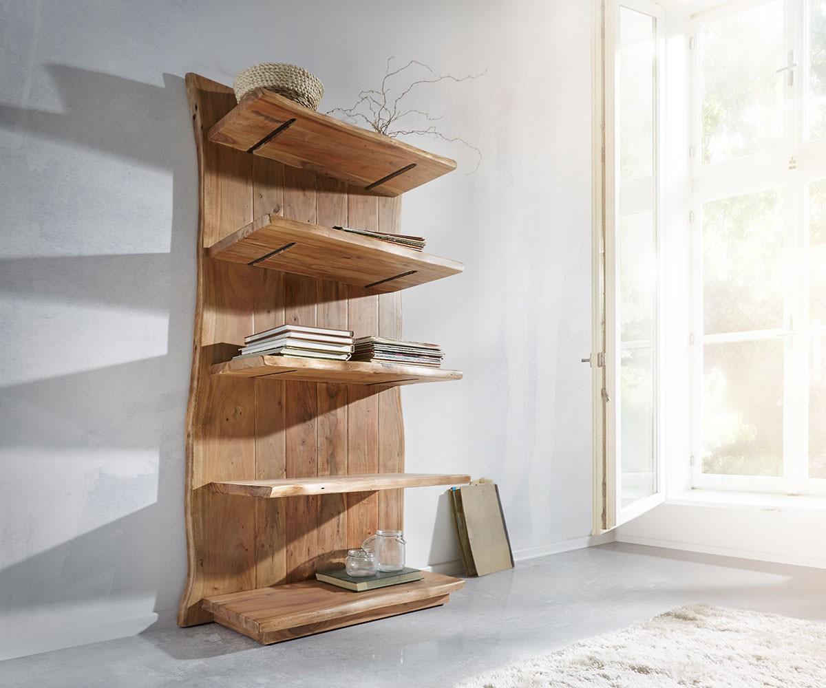 standregal live edge 92 cm akazie natur baumkante m bel regale standregale. Black Bedroom Furniture Sets. Home Design Ideas