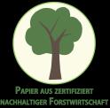 Papierfaser Holz aus zertifizierter Forstwirtschaft