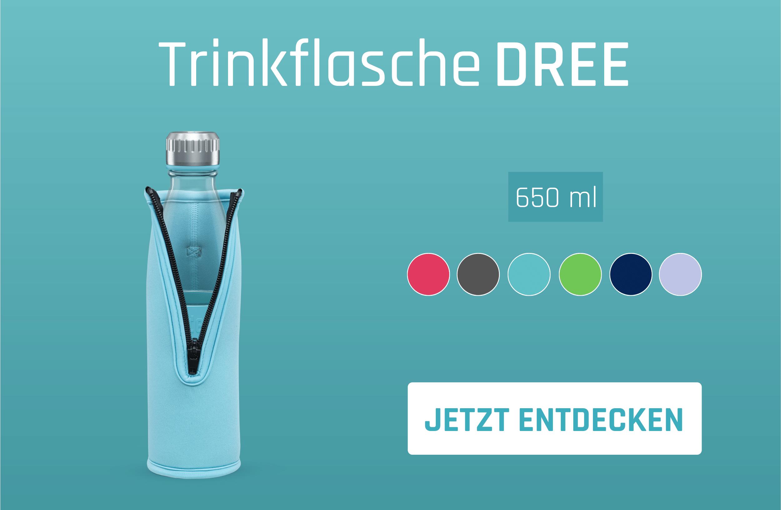 Trinkflasche DREE mit Neoprentasche PACKJE