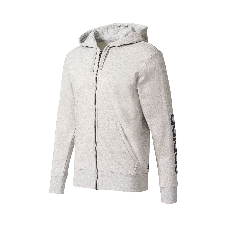 Adidas Essentials Linear Hoody Herren Kapuzenjacke – Bild 1
